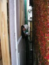 隣接地に接した壁には金属サイディングを使用