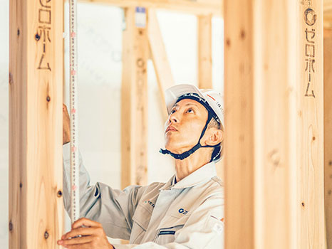 匠の建築・施工の技術が光る家の骨組み