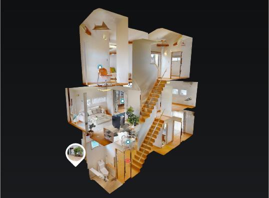 尼崎 まちなかに建てる 光と風の家 3Dモデルハウス